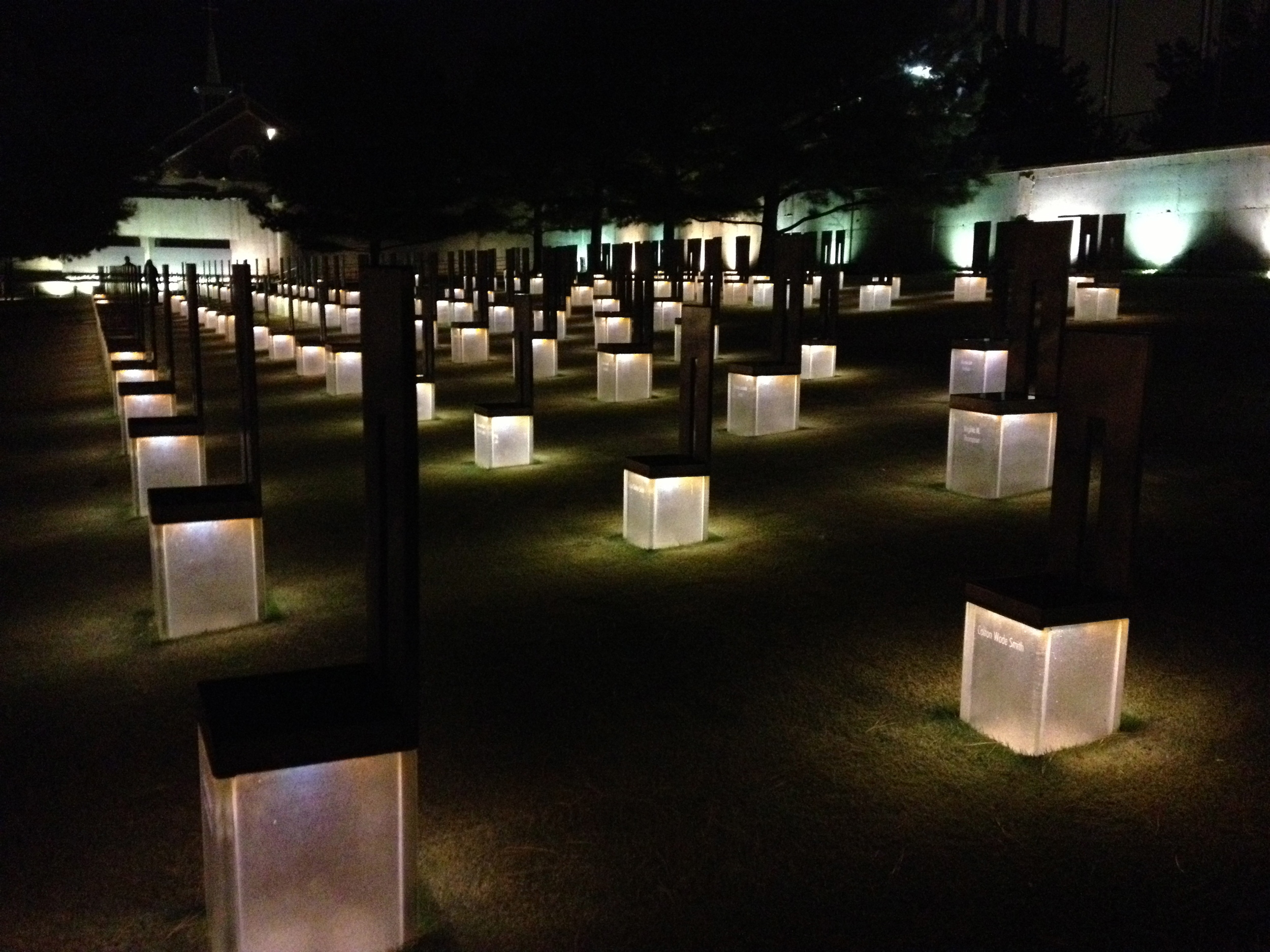 Memorial at the Oklahoma City Bombing site. Hallowed ground.