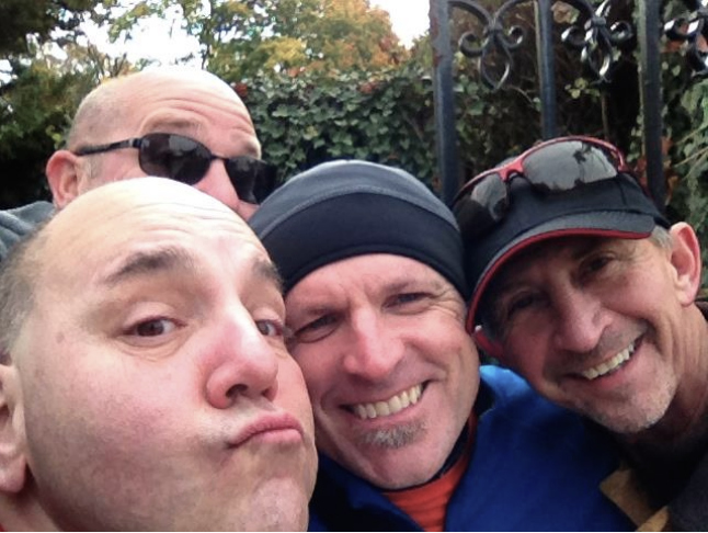 Crazy Prayerwalkers (Charles Cabral, me, Kevin and Allen Cook)