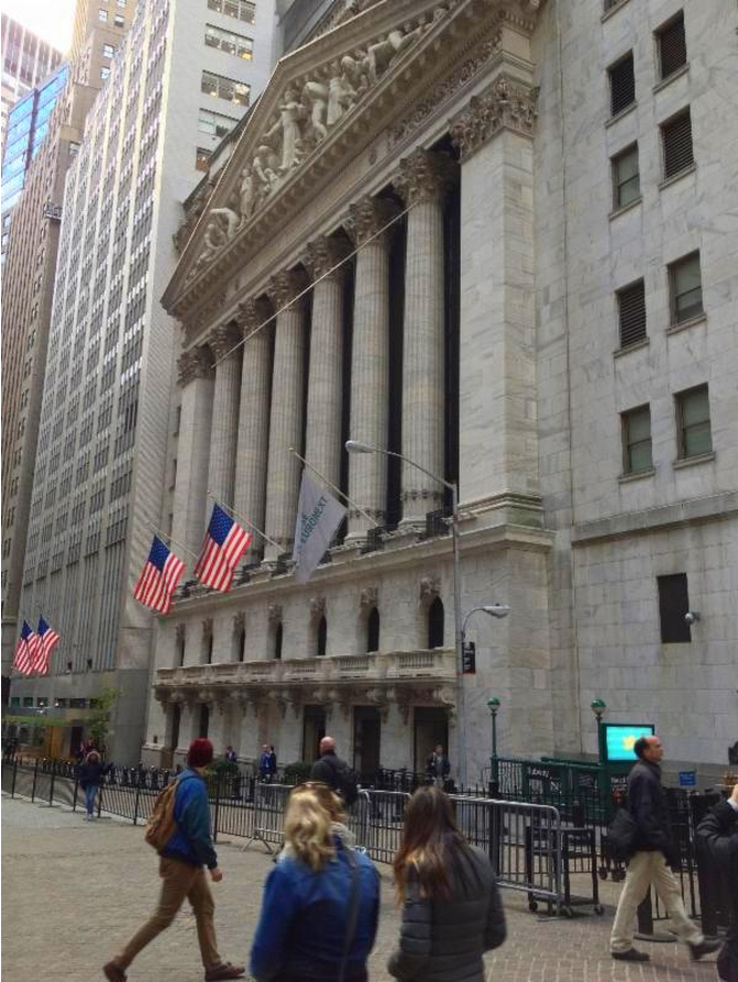 The New York Stock Exchange, right across the street from Federal Hall.