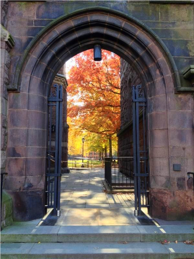 One of the college gates at Yale University, New Haven, CT.