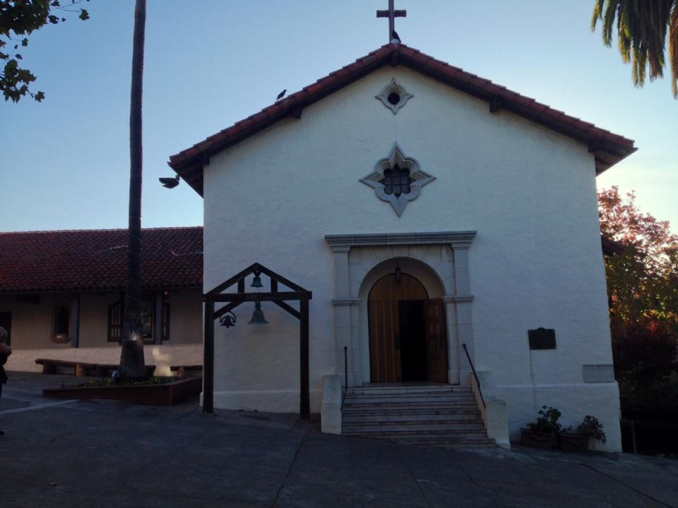 Mission San Rafael at daybreak.