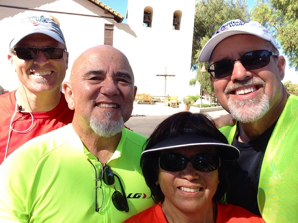 Our new friends, Mike and Vicky Chavez, powerful prayerwalkers...even more powerful (and sweet) saints!