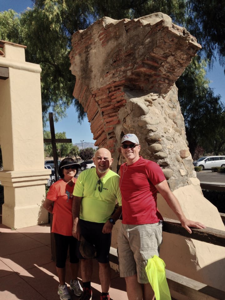 Original column at Mission Santa Ynez