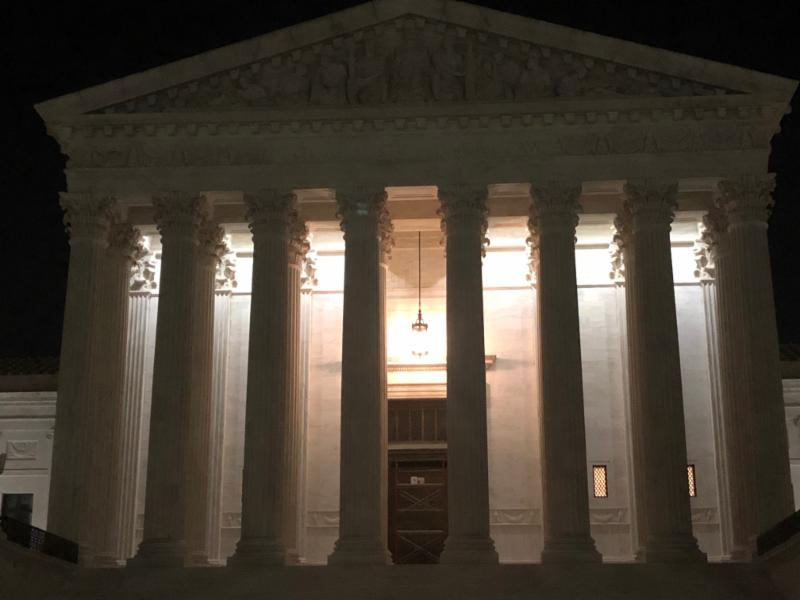 The Supreme Court, hours before opening on the first Monday of October