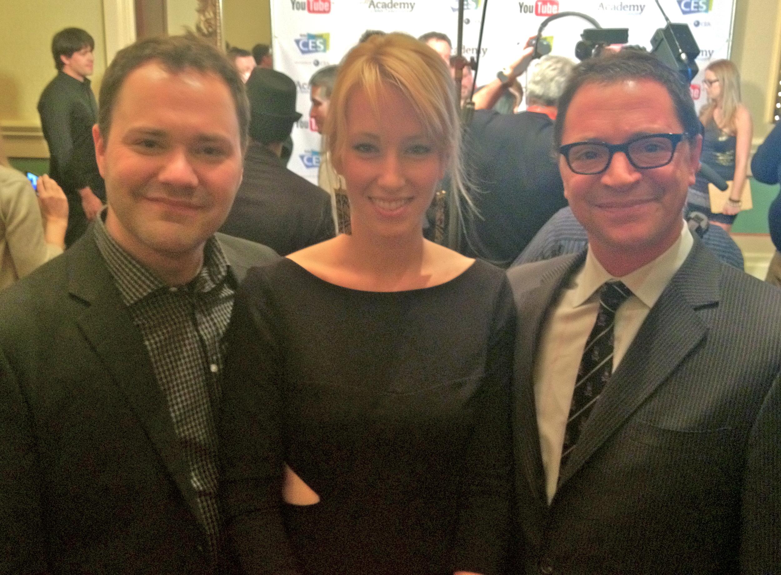 Wilson Cleveland, Alexis Boozer and Joshua Malina at the IAWTV Awards