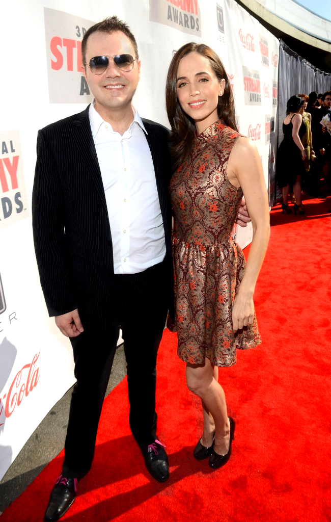 Wilson Cleveland and Eliza Dushku at the 3rd Annual Streamy Awards