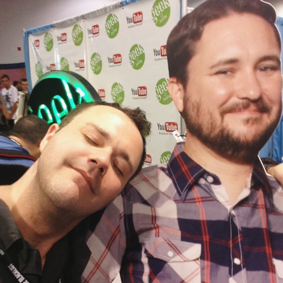 With Cardboard Wil Wheaton at the Geek and Sundry booth.