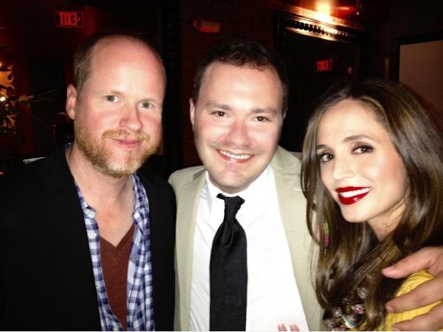 Joss Whedon, Wilson Cleveland and Eliza Dushku