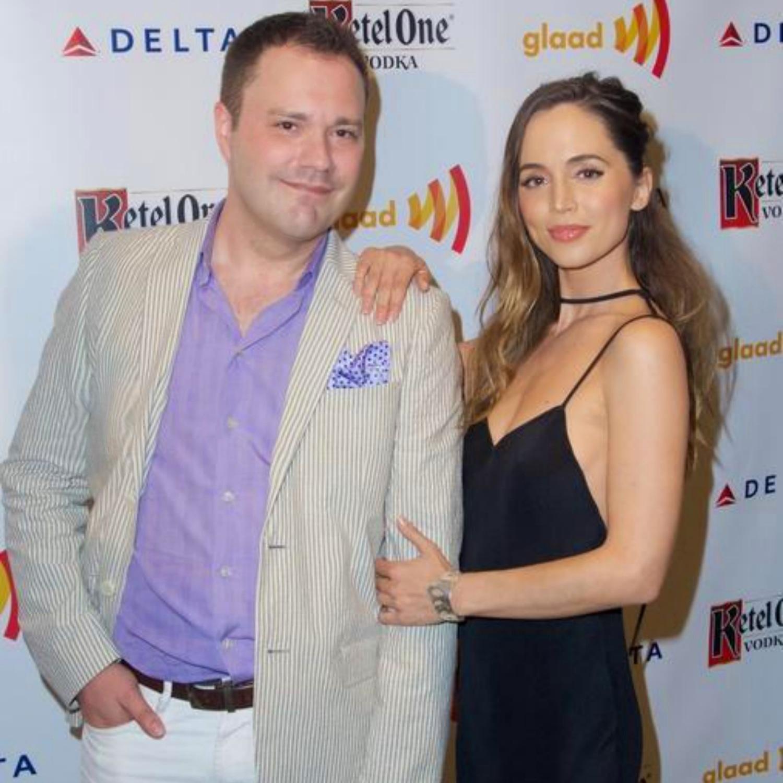 Wilson Cleveland and Eliza Dushku at the GLAAD Media Awards