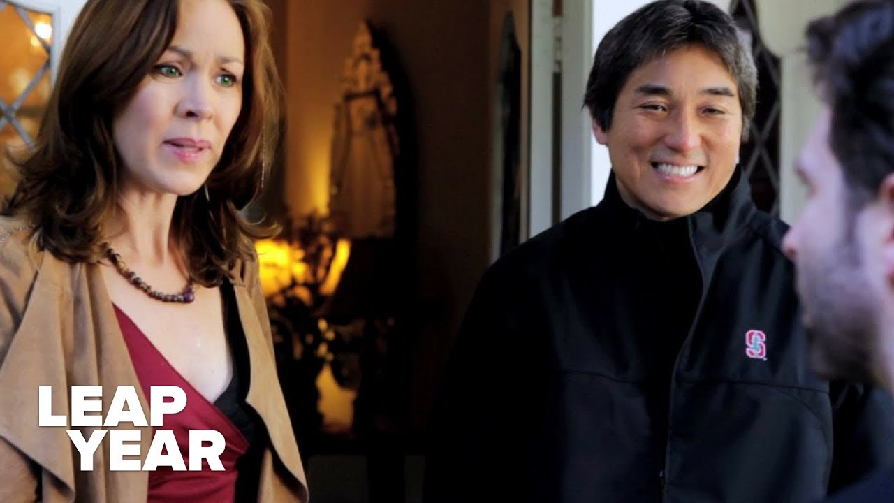 Guy Kawasaki and Scarlett (Kim Fitzgerald) are surprised when Jack (Drew Lanning) show's up on Guy's doorstep.