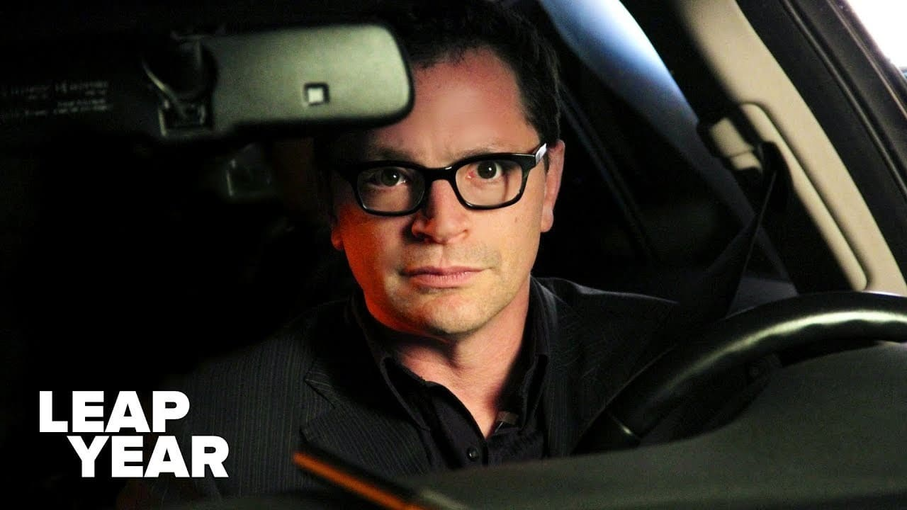 Joshua Malina behind the wheel as Sam Berry on Leap Year (S2:E3) Of All the Gin Joints.