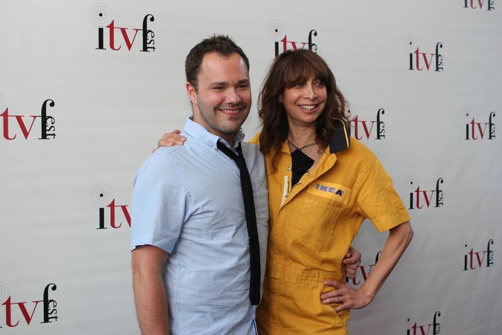 Wilson Cleveland and Illeana Douglas at ITVfest