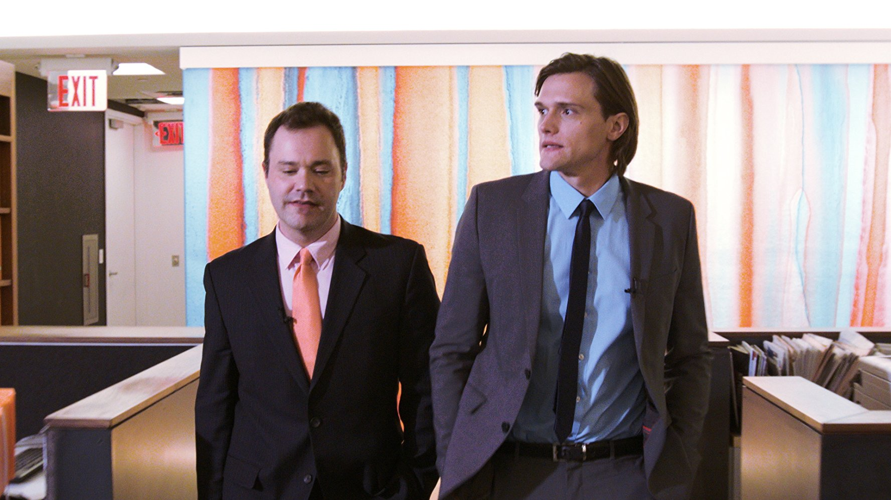 Wilson Cleveland and Hartley Sawyer walking in SPiN (2015)