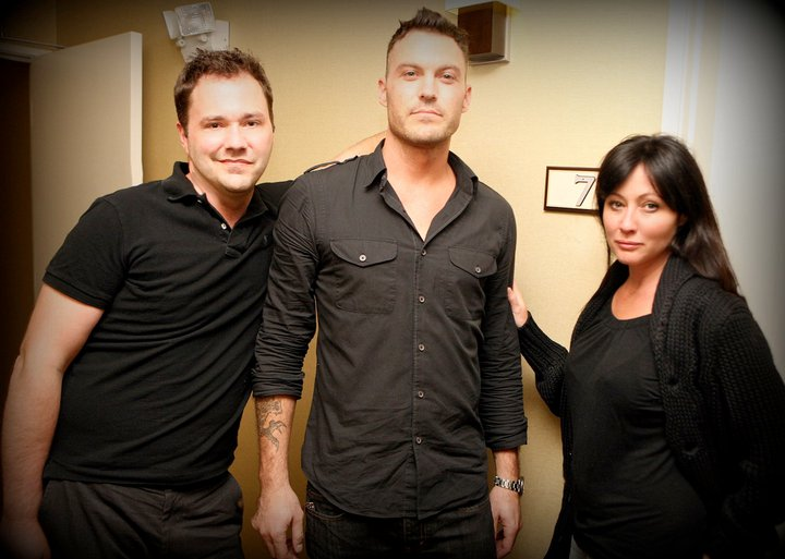 Wilson Cleveland, Brian Austin Green and Shannen Doherty in Suite 7