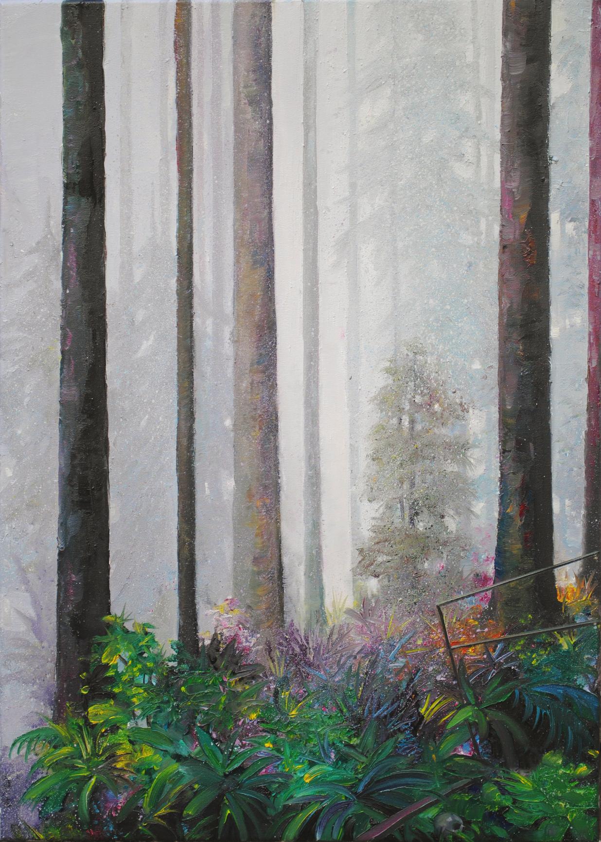 Jens Hausmann, Waldstück 3, Öl auf Leinwand, 70 x 50 cm, von 2011  Kaufinteresse