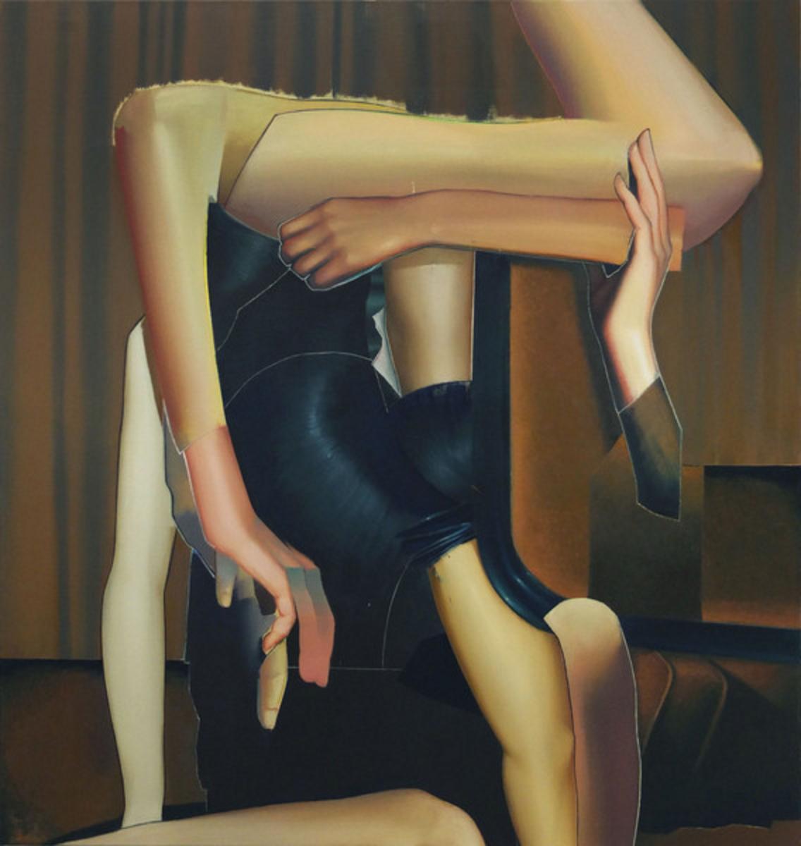 Sebastian Menzke obscured,140 x 130 cm,Öl auf Leinwand, 2016 Ankauf durch die Kulturstiftung Karlsruhe