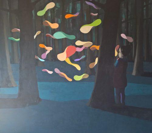 onlooker, 2016   Acryl auf Leinwand, 190 x 220 cm 5.400 € inkl. 19% MwSt 4.537,82 € netto