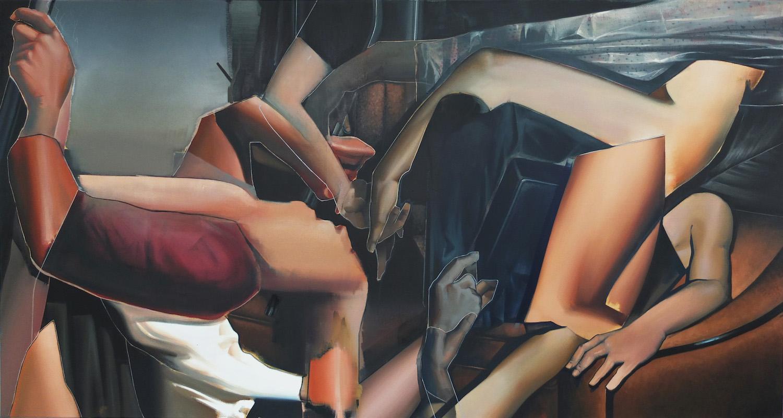 Sebastian Menzke, mahl-,130 x 260 cm, Öl auf Leinwand, 2017, Ausstellung Kunstsammlung Neubrandenburg