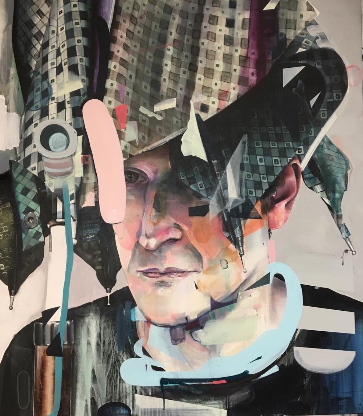 Damko  2019, 110 x 125 cm Acryl auf Leinwand  4.900 €
