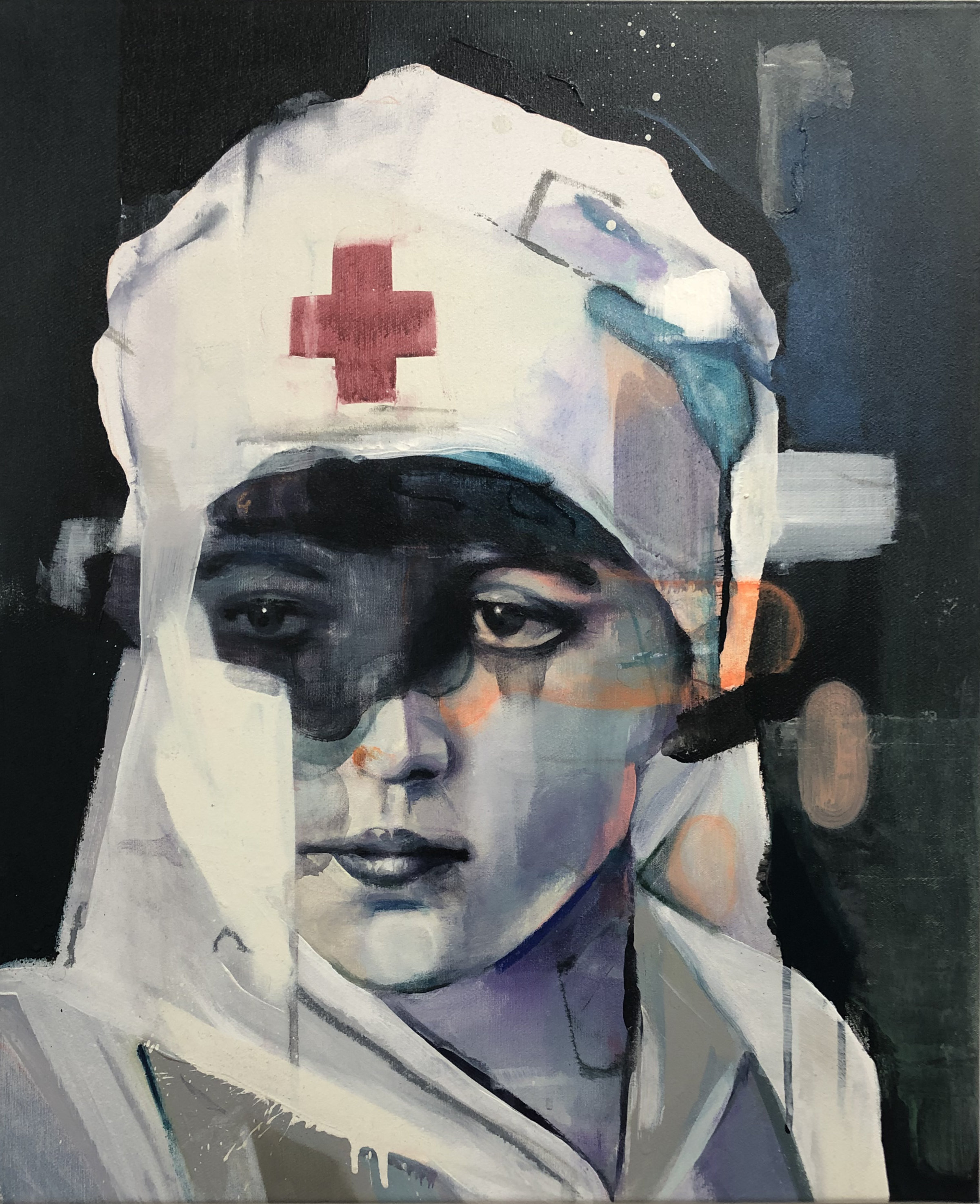 Night Nurse  2019, 58 x 48 cm Acryl auf Leinwand  2.900 €