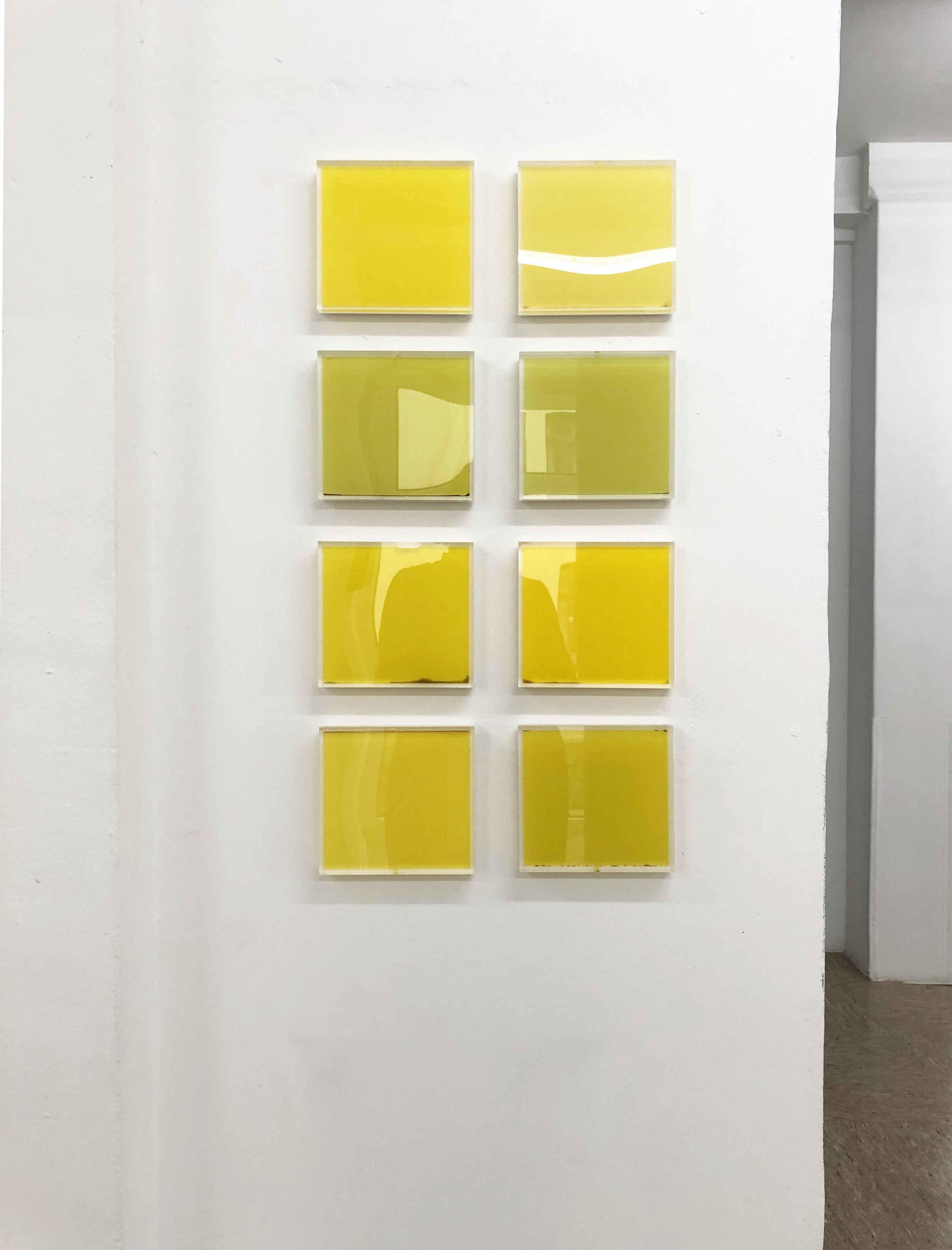 Olivenöl-Quadrate, 15 x 15 cm, 2013, je 260 €