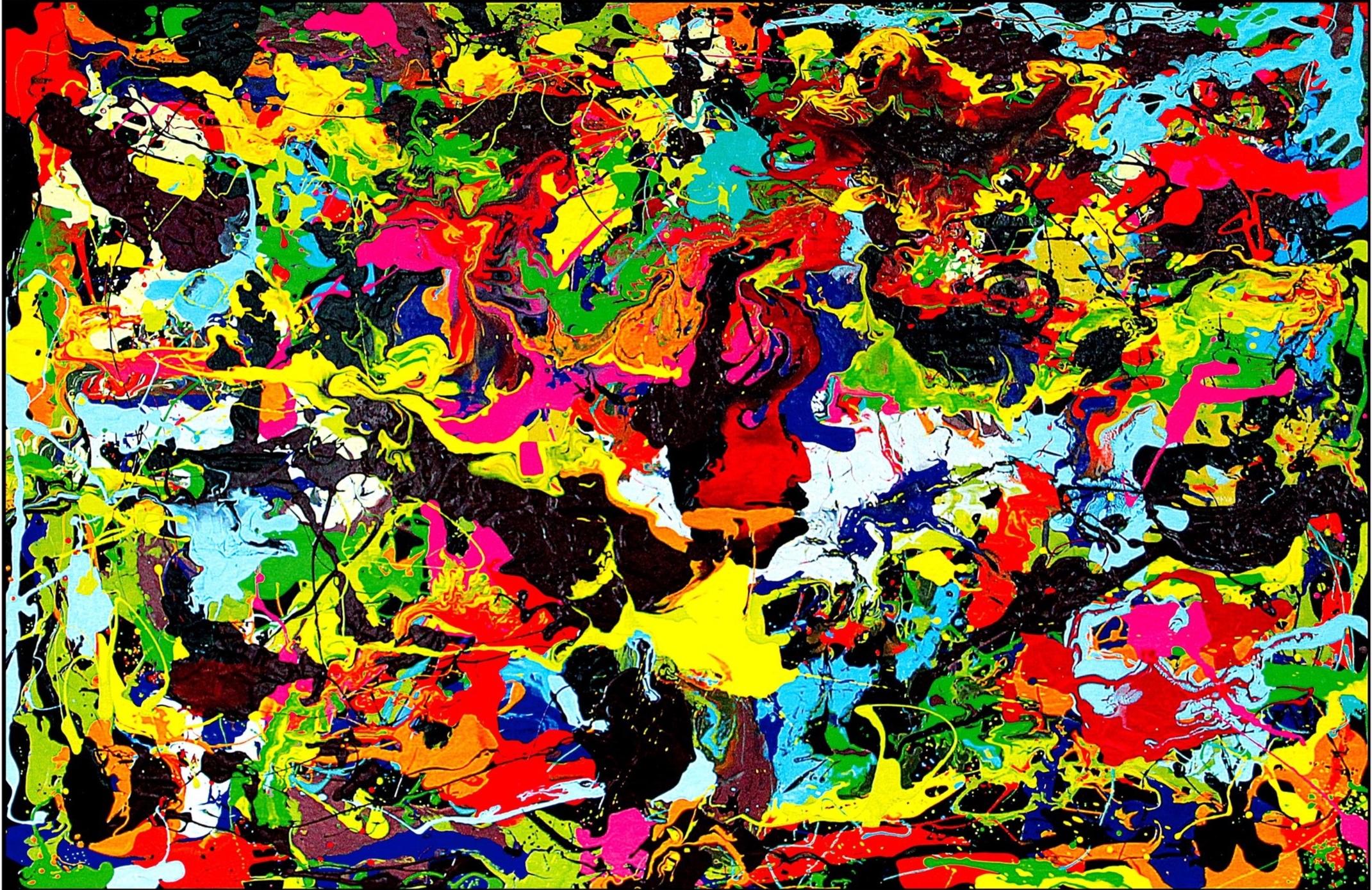 All Colours, Wasserlack auf Holzplatten, 195 x 128 cm, Jahr 2018, 7.200 €