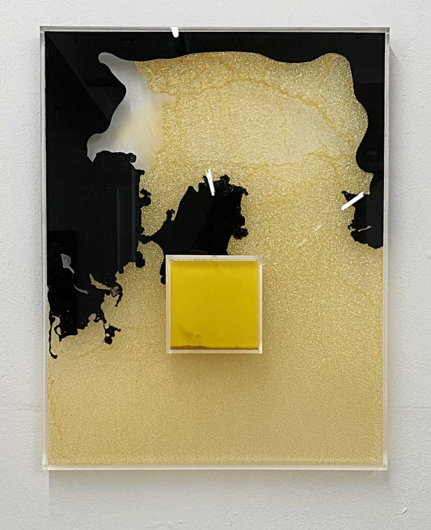 Insel, Leinöl, Lack, Olivenöl, Acryl 48 x 60, 2017, 830 €
