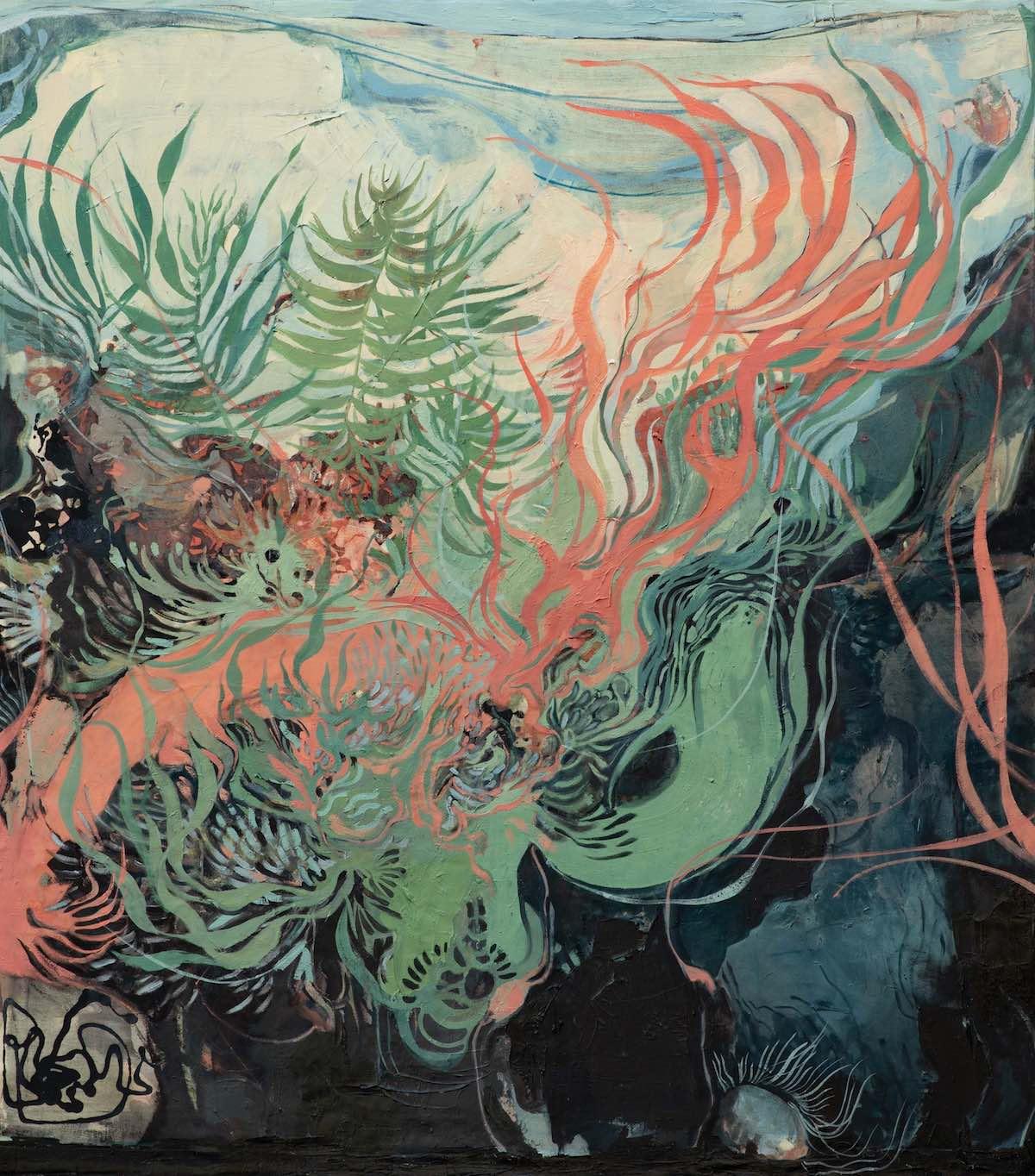 Maße: 135x120 cm ∙ Technik: Öl auf Leinwand ∙ Titel: Singing Reef ∙ Preis: 2.800 €  ☞ Kaufen