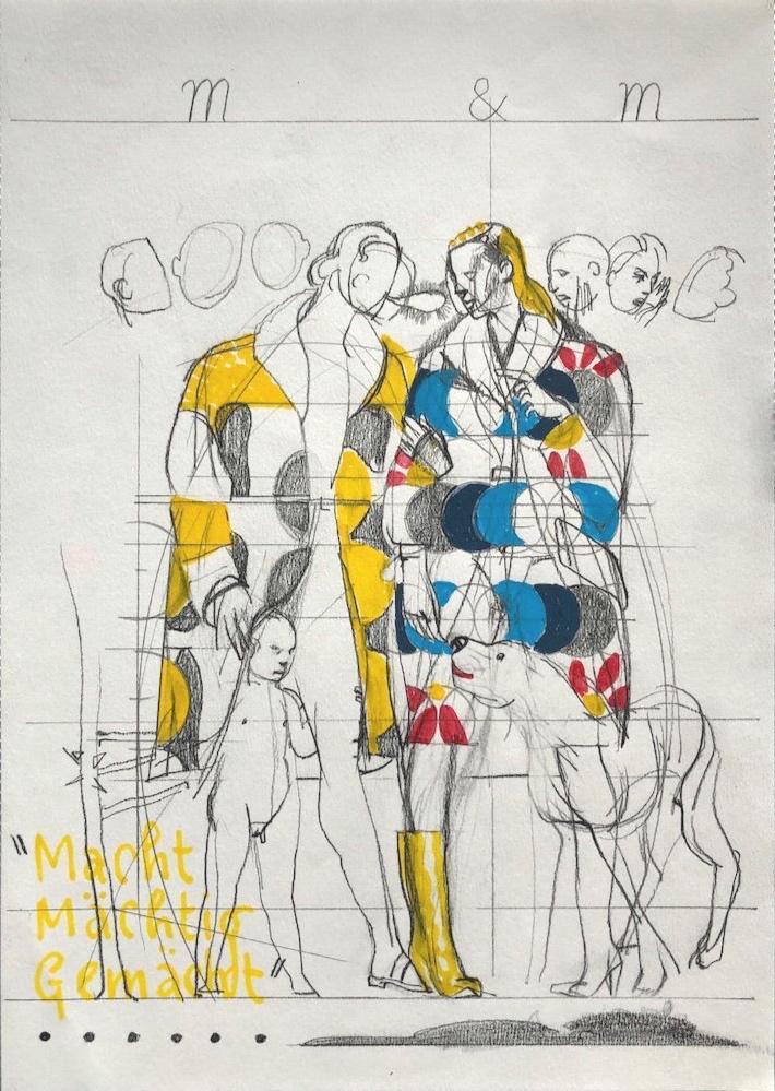 21 x 29,7 cm・III・Bleistift und Tusche auf Papier・weiß gerahmt ・480 €