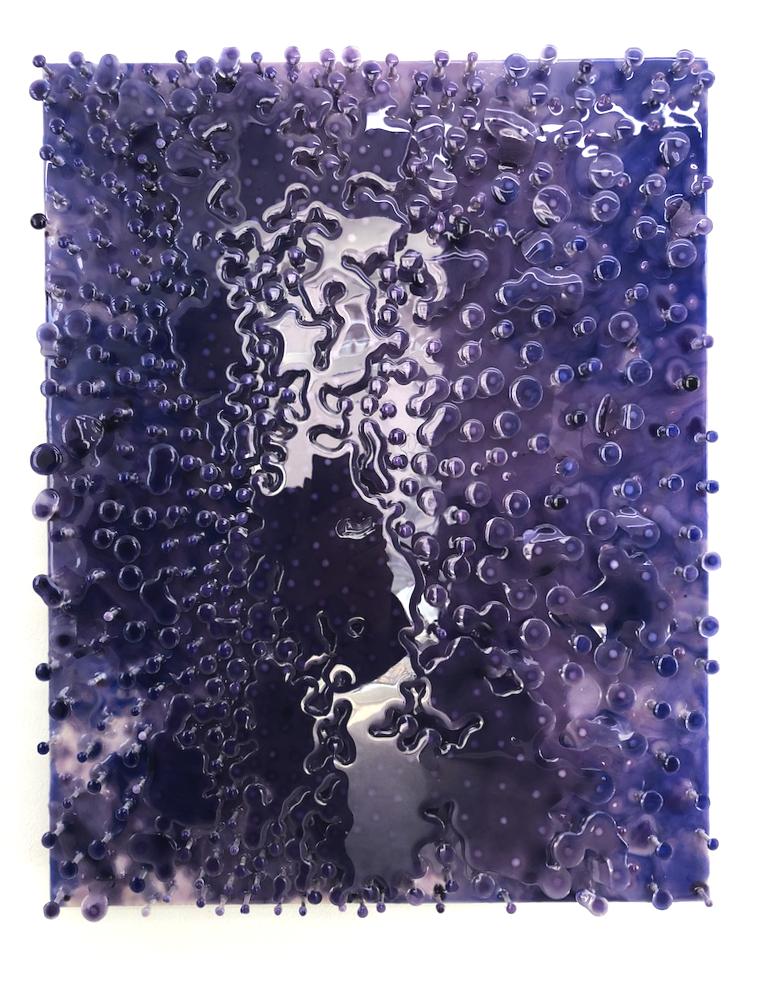 Willi Siber・Wandobjekt ・Nägel, Holz, Epoxidharz, Farbe ・52 x 40 cm・2.400 €