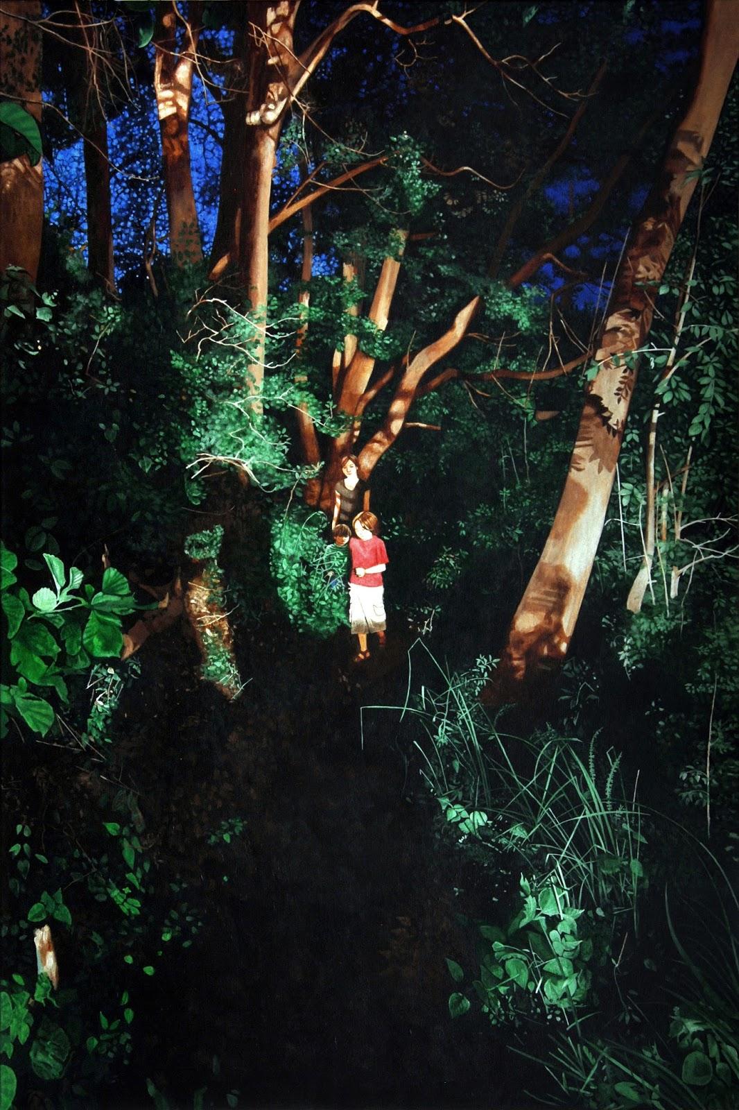 Abendlicht, 2017, Acryl/Lw 150x100cm