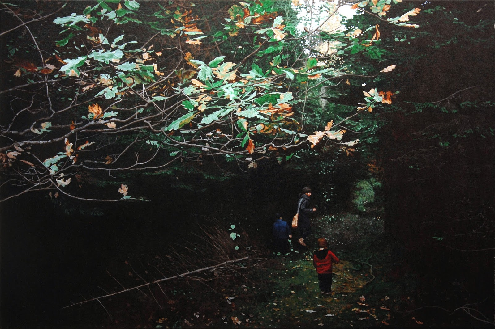 Die Sammler, 2017 Acryl/Lw 80x120cm