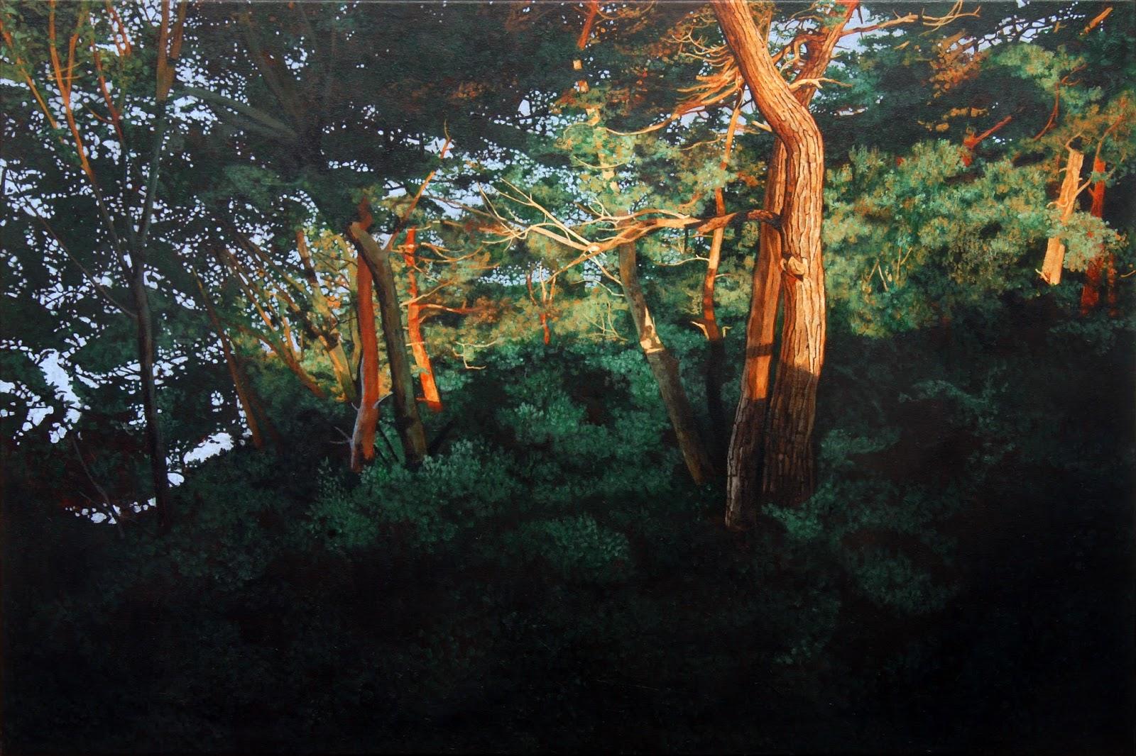 Drachenwald II, 2017  Acryl/Lw 180x120cm