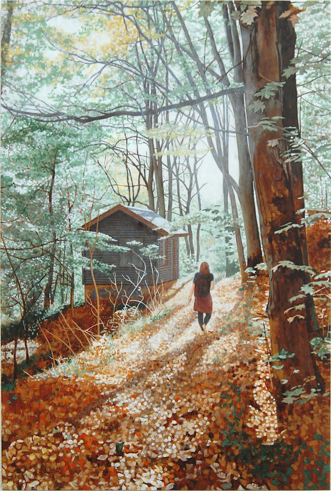 Im Harz, 2019 Acryl/Holz 60x40cm