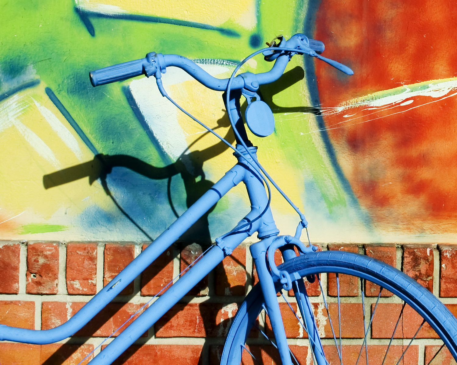 Blue Bike , Fort Lauderdale, Florida, 2006, by R. A. Mitchell