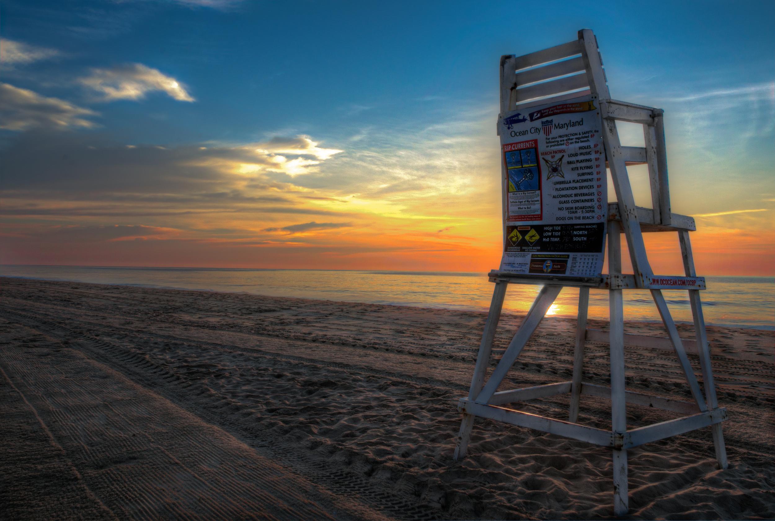 Ocean City Lifeguard Sunrise