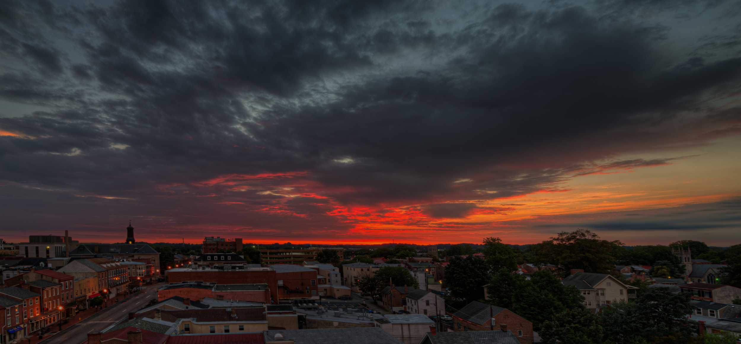 Sunrise over West Chester PA
