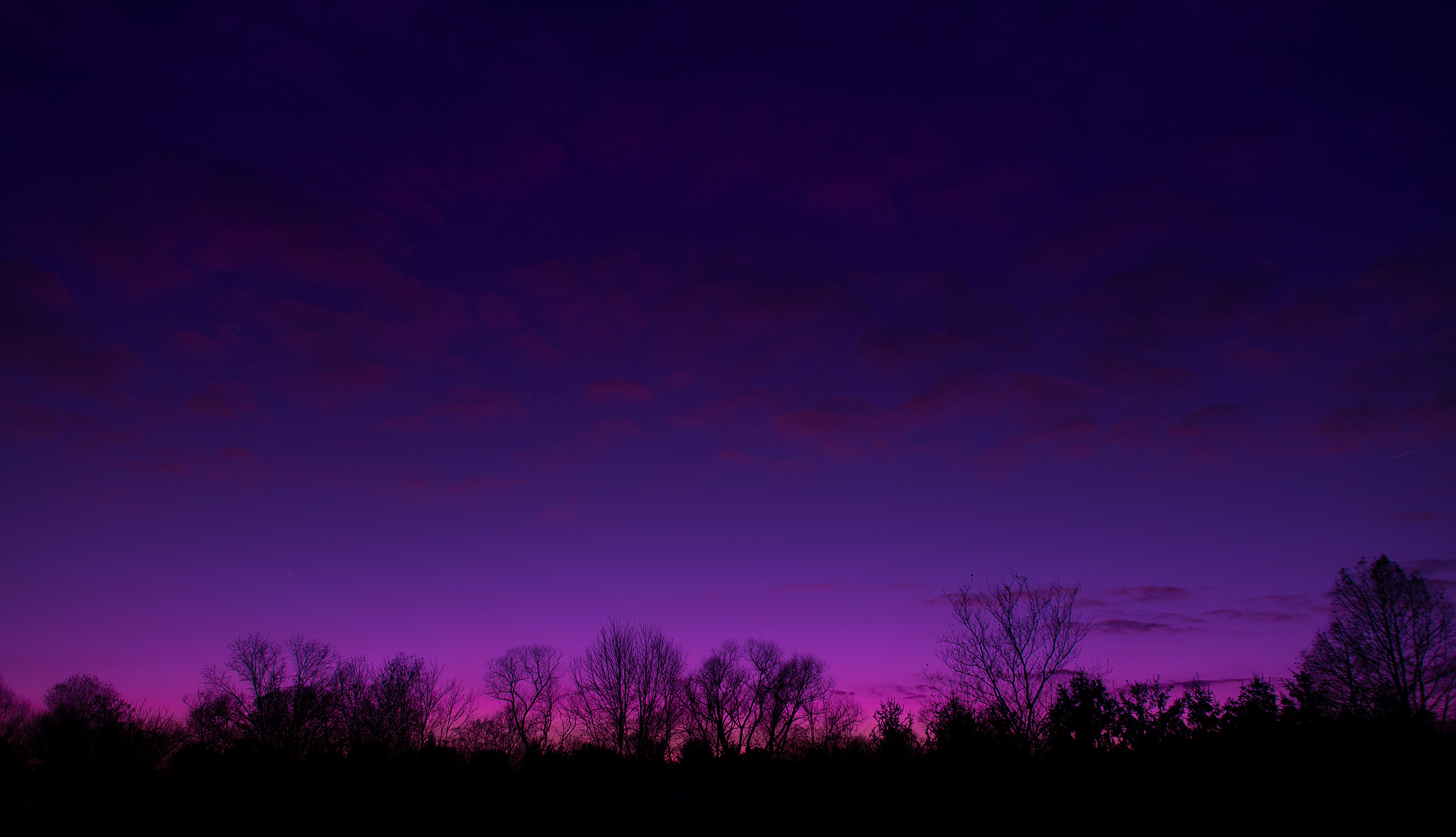 Purple to Dark Blue Sunset