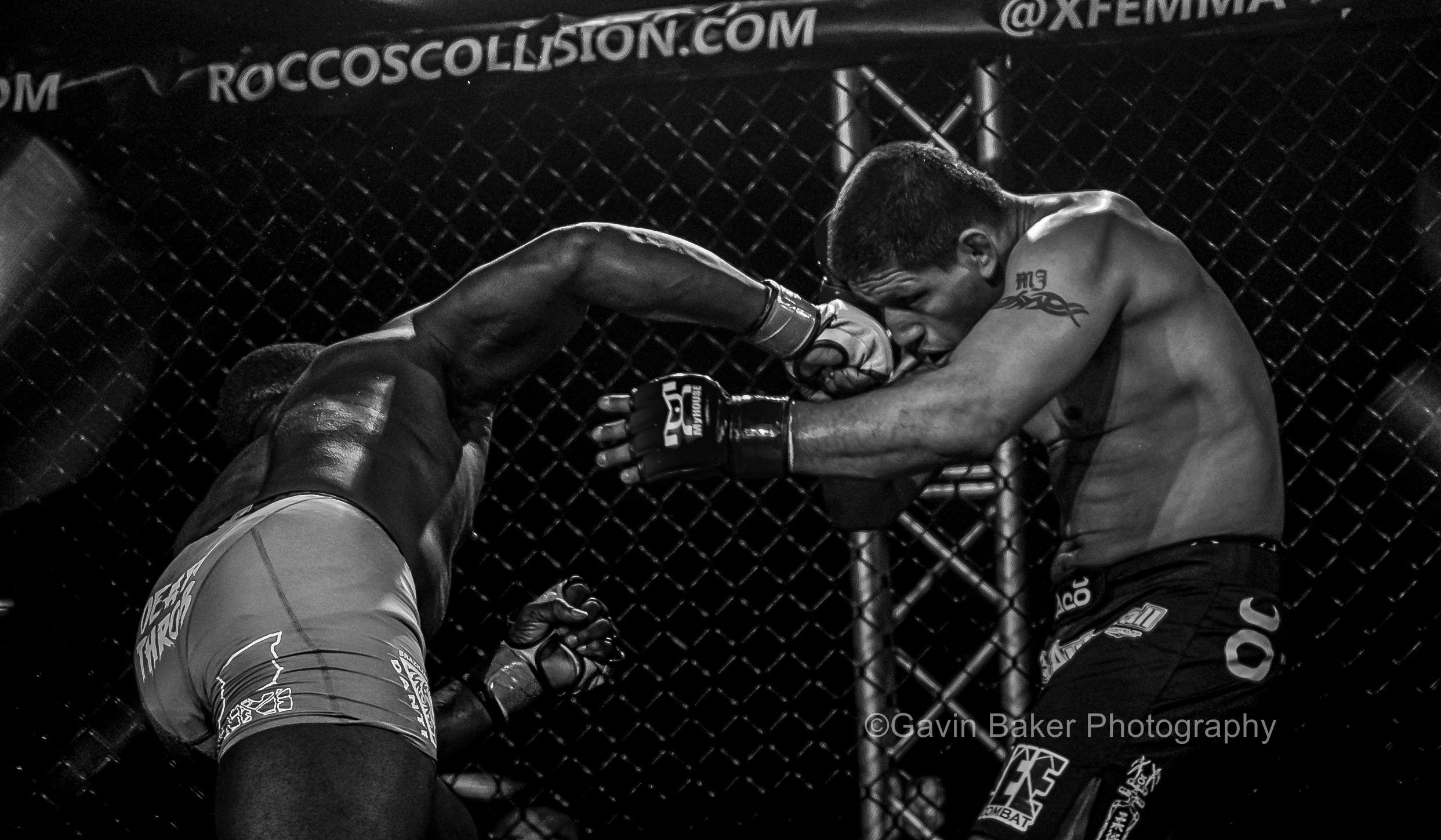 February 21, 2014: Josh Key (white  gloves) lands a punch to the nose of Elder Ramos (black gloves)during the XFE 36 MMA event at Harrah's Philadelphia Casino in Philadelphia, PA.