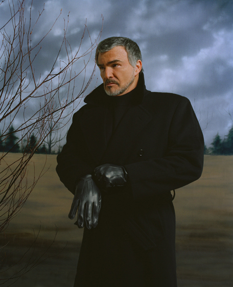 "Burt Reynolds with Black Gloves_by © Rafael Fuchs. 11xx14"" C- Print"