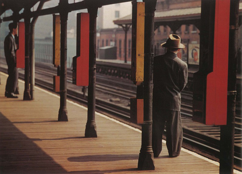 Third Ave. Elevatad Train, NY City ca 1951_by ©Esther Bubley _Digital C-print  8 1/4 x 12""