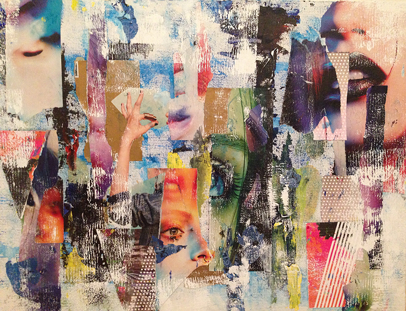 "Rebecca Goodman ""Untitled"", 2015, Mixed Media on Canvas Board, 18 x 24"","
