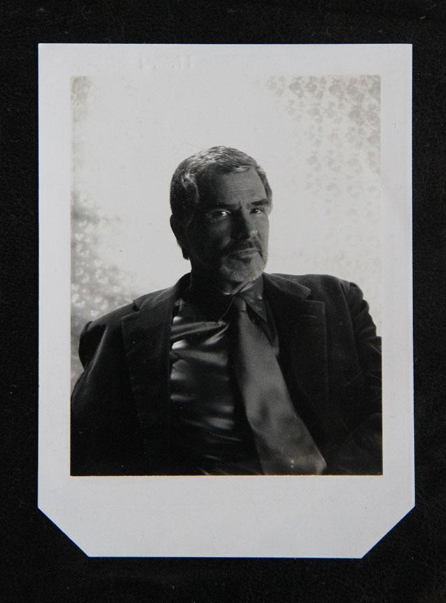"""Burt Reynolds_1"" by Rafael Fuchs.Unique 4x5"" Polaroid.Price: $750. SALE: over"