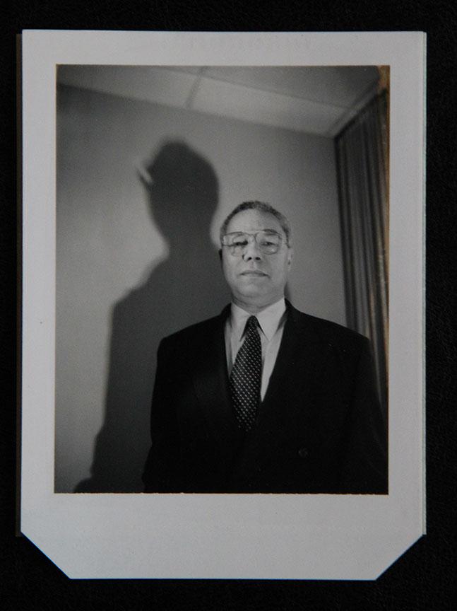 """""""Colin Powell_1"""" by Rafael Fuchs. Unique B&W 4x5"""" Polaroid. Price: $950. SALE: over"""