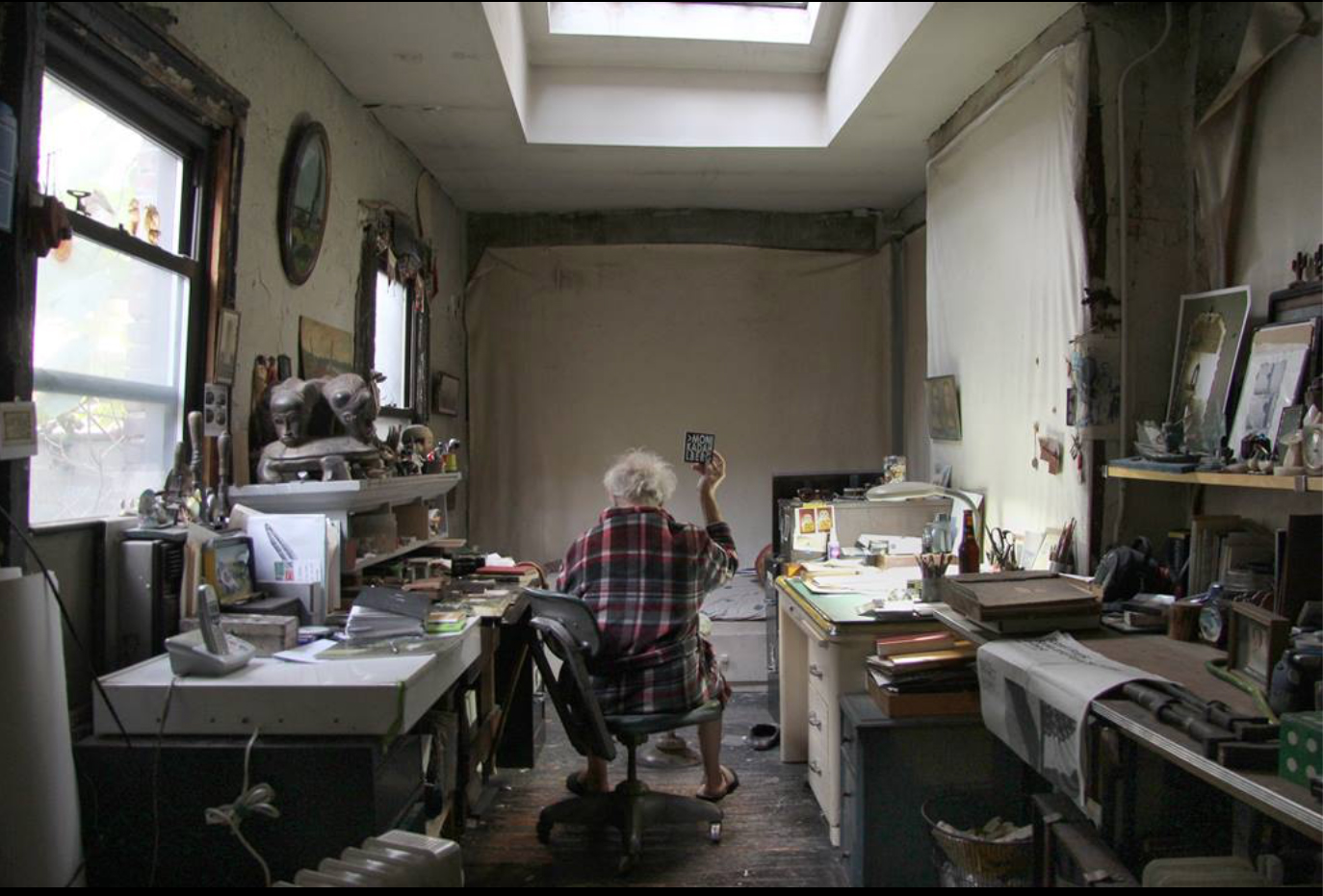 Robert Frank in his studio.   Photographed by Andre Smits 11.8.16