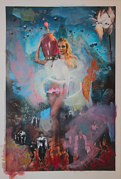 """""""The Golden Calf"""" mixed media 2017 by Rafael Fuchs    Unique. (Acrylic and Photo-collage on canvas)"""