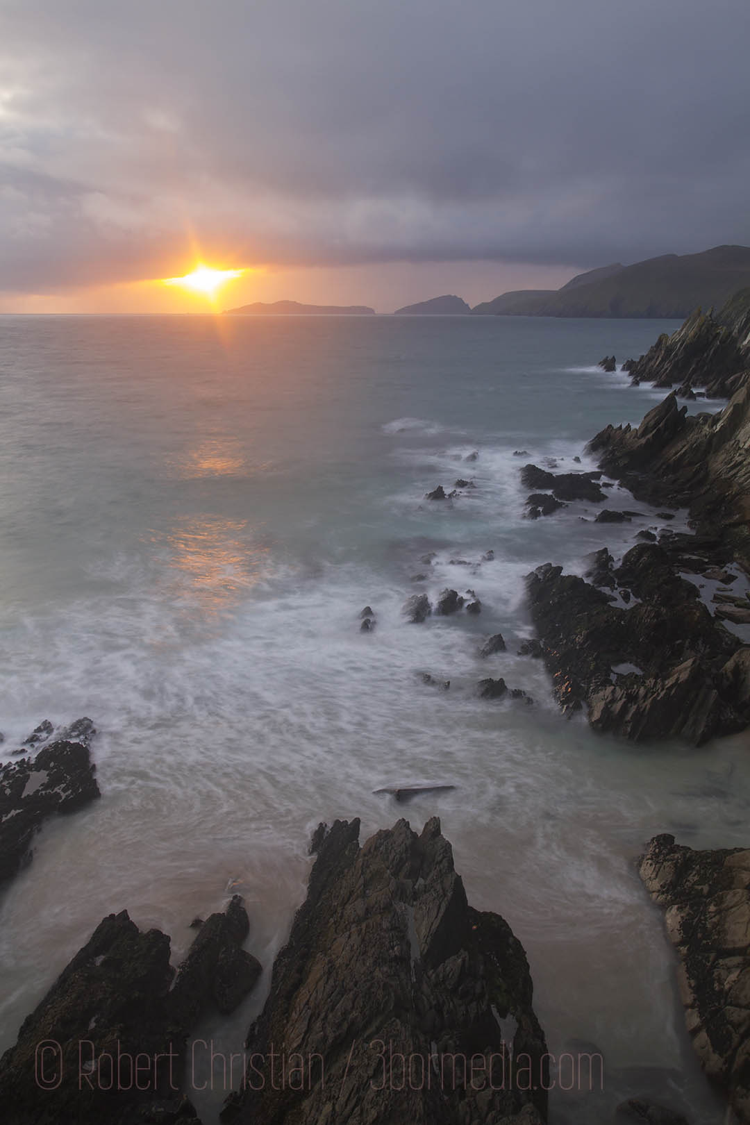 Sunset seen from Coumeenole