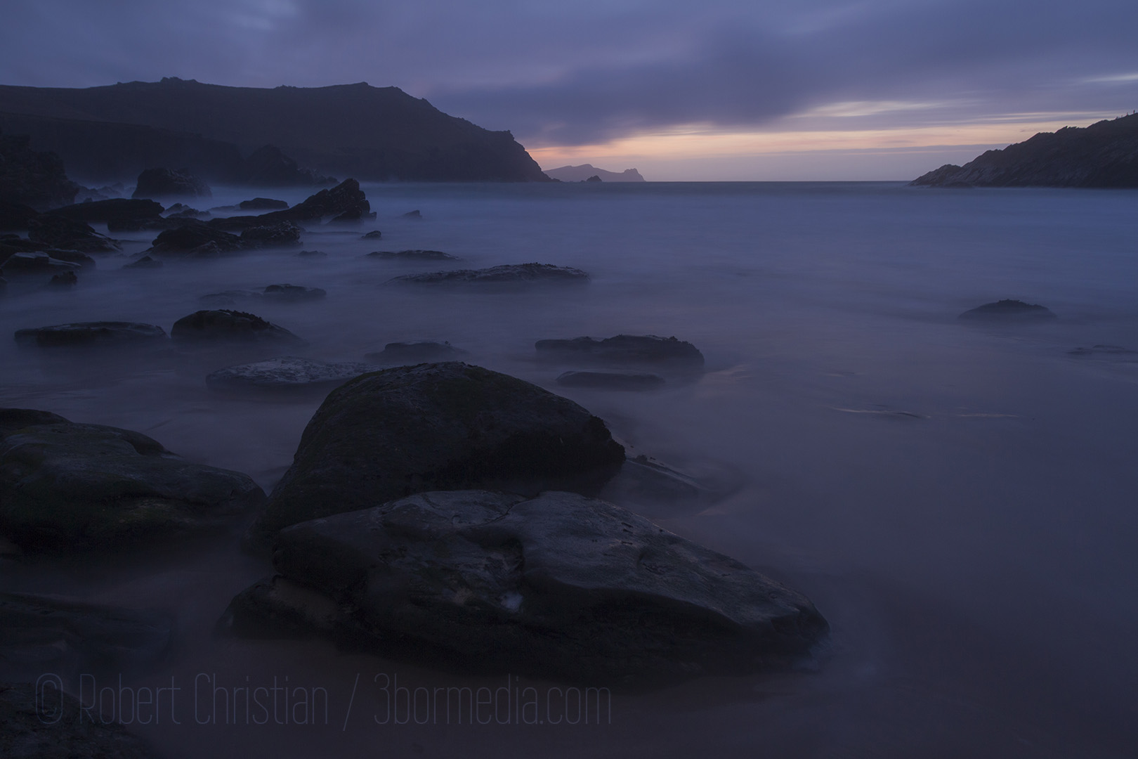 Just before dark on Clogher Strand.
