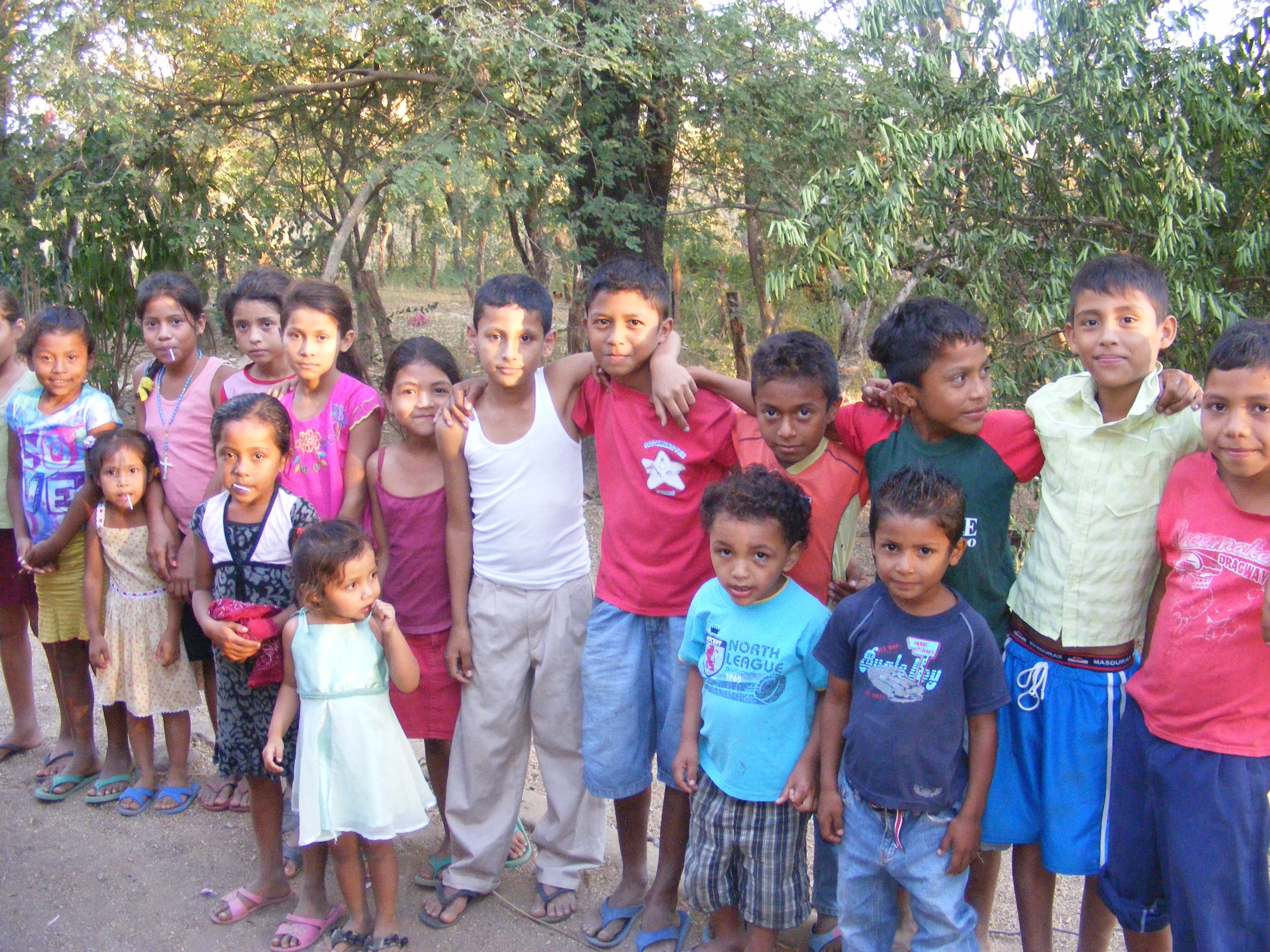 Children at a house church in Nicaragua.