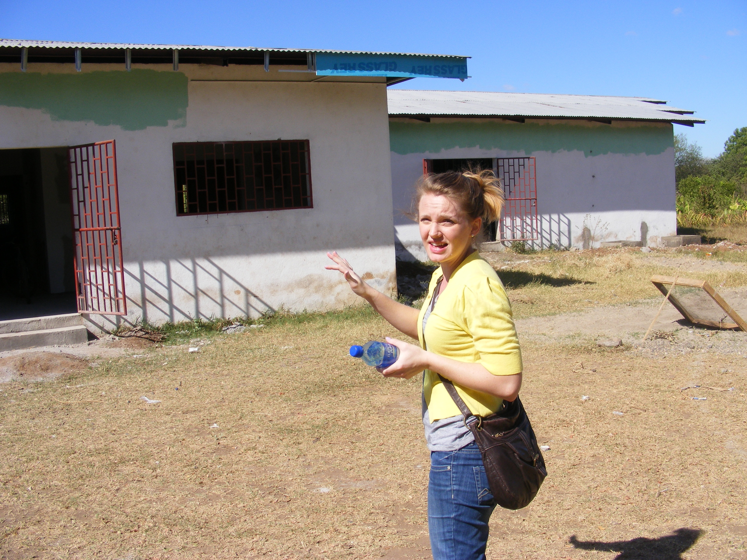 Missionary Showing us the new Medical Clinic in Somotillo.